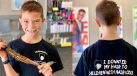 9-летний мальчик растил волосы 2 года, чтобы отдать их детям, больным раком – несмотря на то, что его постоянно дразнили